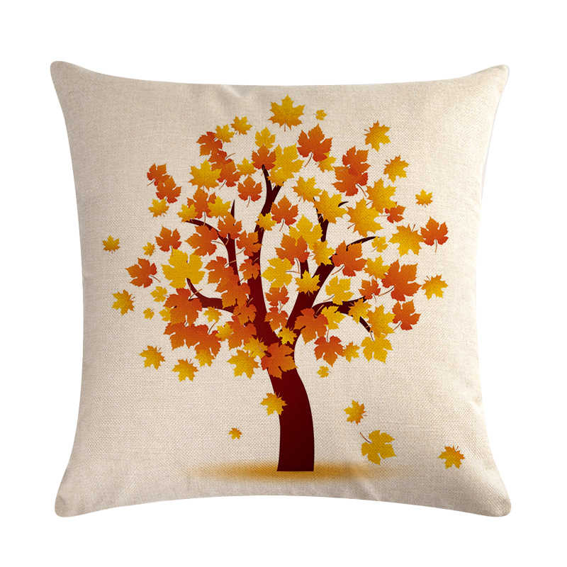 Nordic Autumn Yellow Leaf Sycamore Leaves Decorative Pillows Sofa Cotton Linen Cushion Cover Home Decor Pillow Cover 45x45 Zy592 Cushion Cover Aliexpress