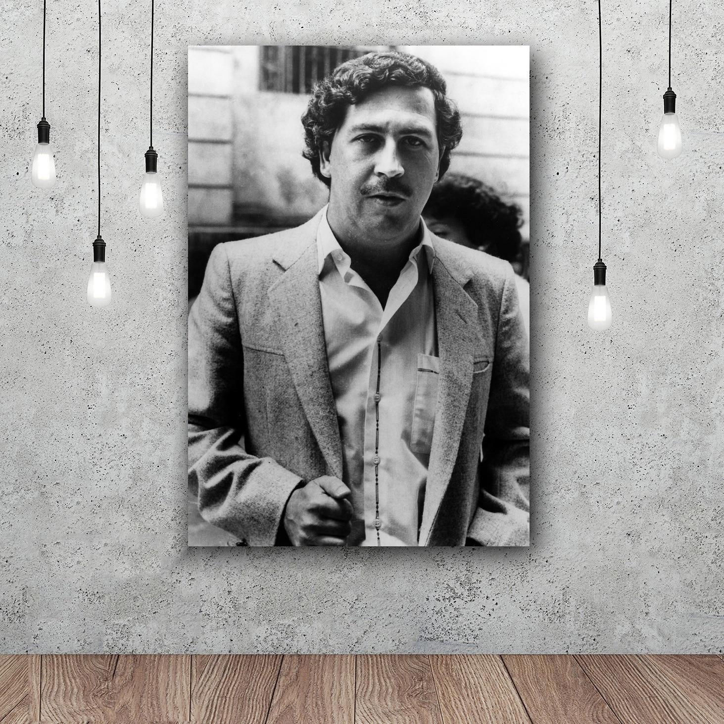 Pablo Escobar Art Silk Fabric Poster Wall 12x18 24x36inch