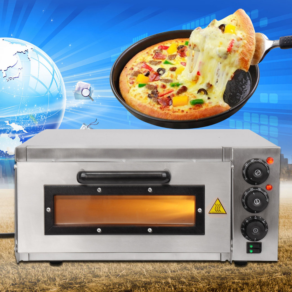 (Ship from EU) 16 inch Electric Pizza Oven Deck Commercial Baking Oven Fire Stone Catering Cake цена и фото