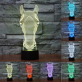 7 Color change Horse Head Lamp 3D lamp Led Night Lights for Kids Touch USB Table Baby Sleeping Nightlight IY803548