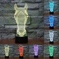 7 cambio de Color Lámpara de Cabeza de Caballo 3D Llevó Luces de La Noche para Los Niños Táctil USB Mesa de Dormir Del Bebé Nightlight IY803548