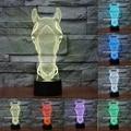 7 mudança de Cor da Lâmpada Cabeça de Cavalo 3D lâmpada Led Luzes da Noite para Crianças de Toque USB lâmpada de Mesa Do Bebê Dormir Nightlight IY803548