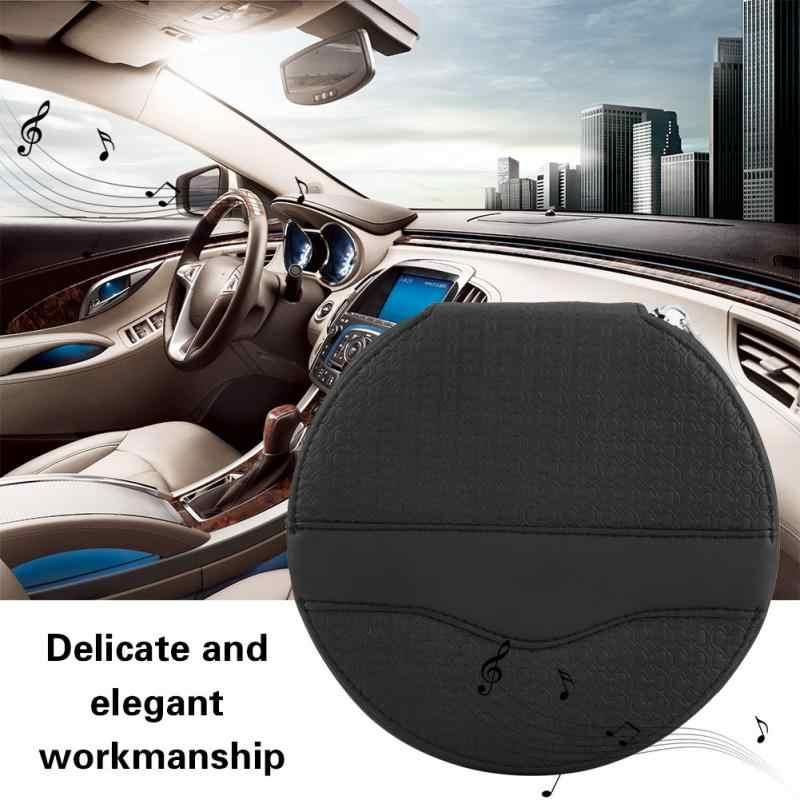 Новый Премиум Кожаный Автомобильный Универсальный круглый 24 емкости диск CD VCD DVD чехол для хранения мини сумка бумажник для визиток папка