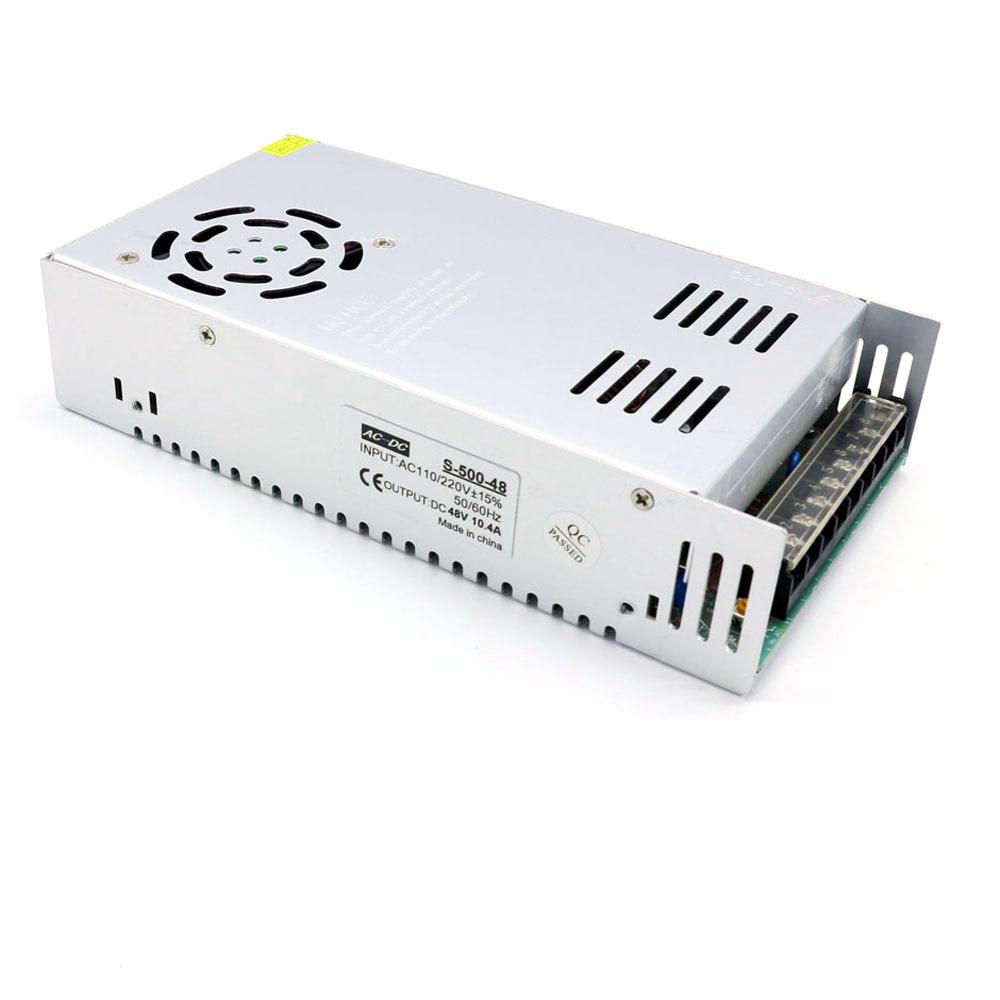 Alimentazione elettrica di commutazione DC 48 v 10A 480 w 500 w 48 v regolabile ac a dc smps fonte 48 v universale led di alimentazione