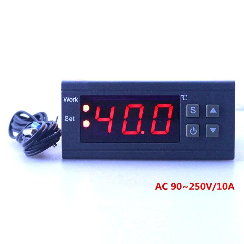 Digital Temperature Controller MH1210W 90-250V 10A 220V <font><b>Thermostat</b></font> Regulator with Sensor -50~110C <font><b>Heating</b></font> <font><b>Cooling</b></font> Control
