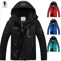 2015 Hot Sale Winter Jacket Men Plus Velvet Warm Wind Parka M 7XL Plus Size Black