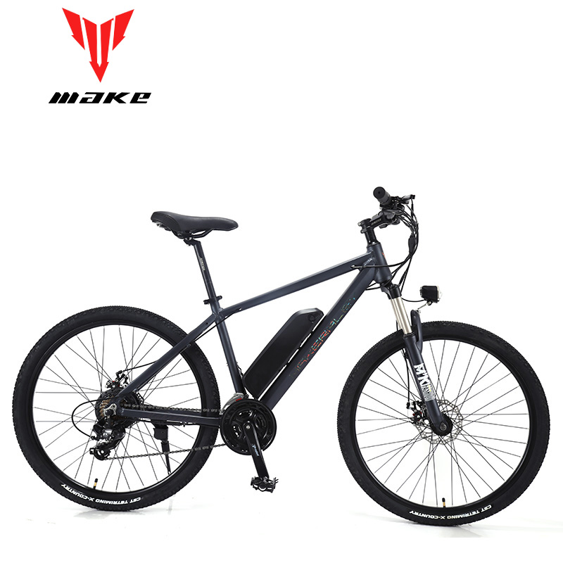 "MAKE Mountain Electric Bike Full Suspension Alluminium Folding Frame 24 Speed Shiman0 AItus Mechanic Brake 27,5"" Wheel"