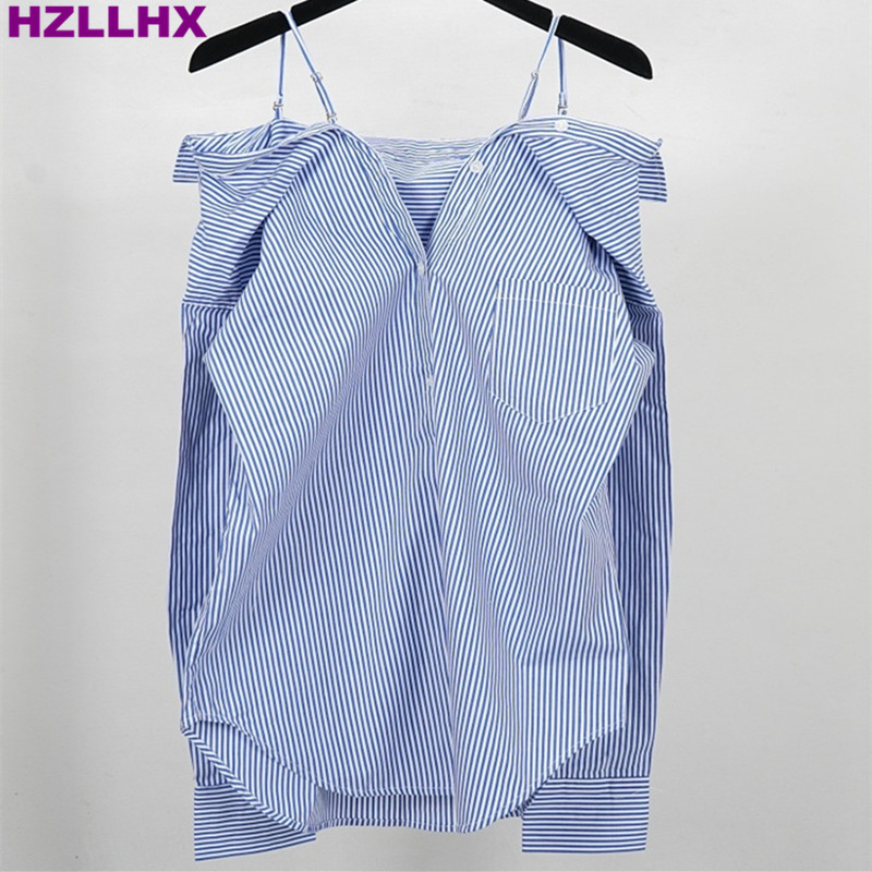 Popular Blue and White Striped Womens Striped Shirt-Buy Cheap Blue ...