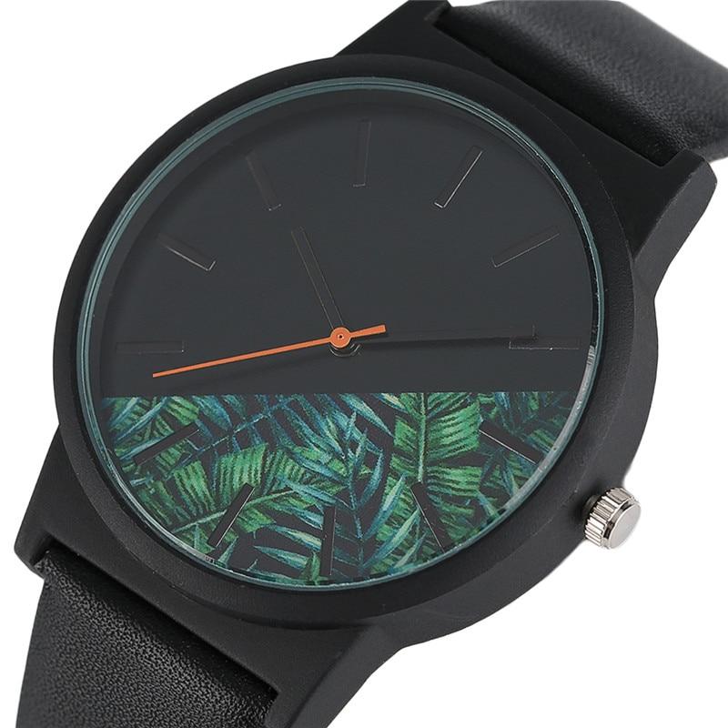 Fashion Unisex Watches Tropical Jungle Design Quartz Wristwatch for Men Women Creative Casual Sport Clock Hour