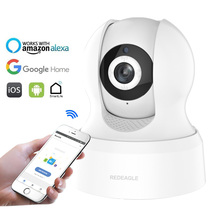 HD 720P IP Camera Wireless Wifi Net Surveillance Camera Smart Living Compatible with Alexa Echo Show and Google Home