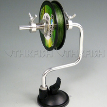 Portable Aluminum Fishing Line Winder Reel Spool Spooler System Sea Carp Fishing Accessories Tackle Tool Suction Cup