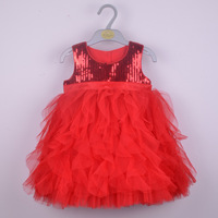 Retail High Quality Girl S Party Dress Hot Selling Pink Children S Dress With Sequins Summer