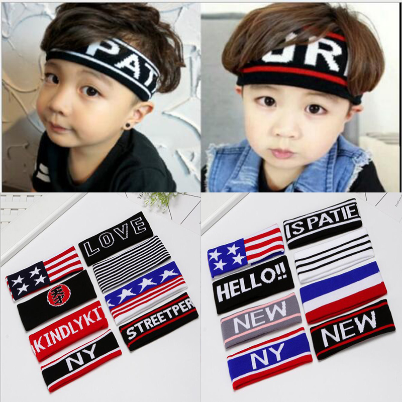 2018 Cotton Elasticity Children Fitness Headband Spring Summer Running Bandanas Men Women Yoga Sports Hairband Unisex Headwear