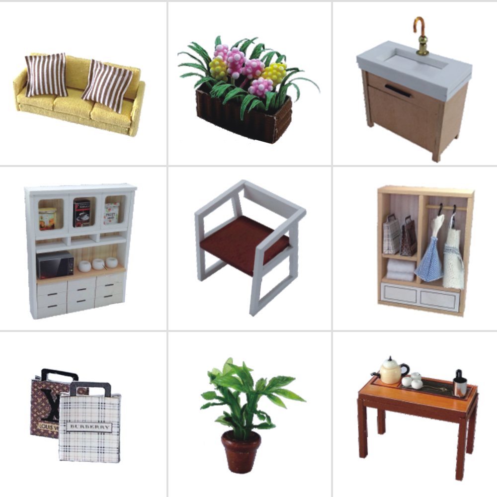Cutebee Doll House Furniture Miniature Dollhouse DIY Miniature House Room Box Theatre Toys for Children Casa DIY Dollhouse P in Doll Houses from Toys Hobbies