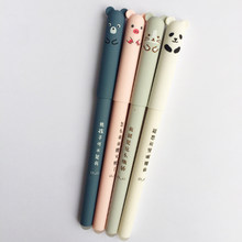 1 قطعة/الوحدة 0.35 مللي متر الأسود الأساسية النسخة الكورية من لطيف خنزير الباندا قابل للمسح هلام القلم لكتابة الطلاب المدرسة