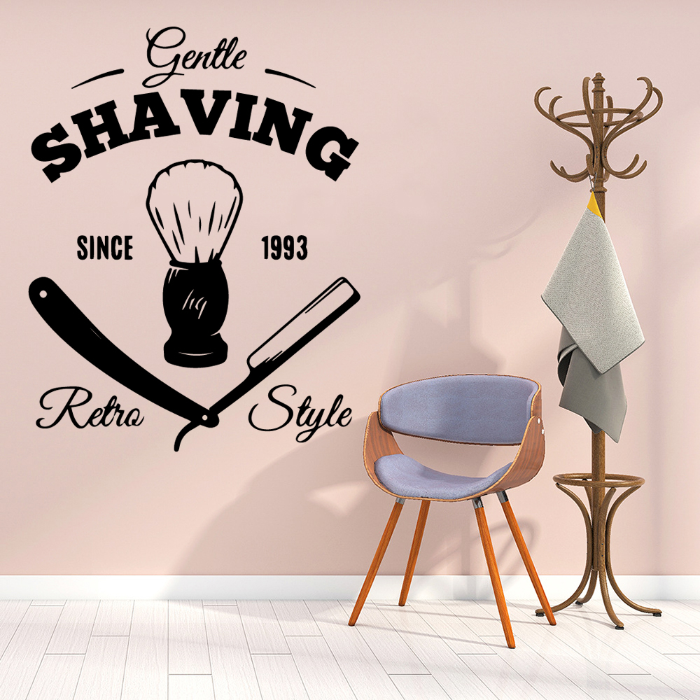 Cartoon shaving Wall Decal Living Room Removable Mural Living Room Children Roomhttp kan 027cgb com 600550 C4216 01 jpg in Wall Stickers from Home Garden