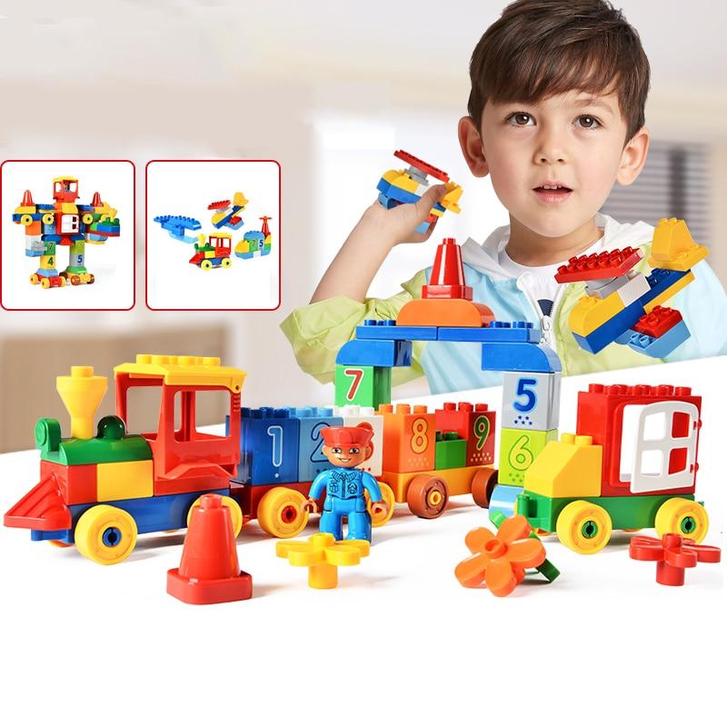 75/66 / 65PCS grands blocs de briques de mon premier numéro - Concepteurs et jouets de construction - Photo 2