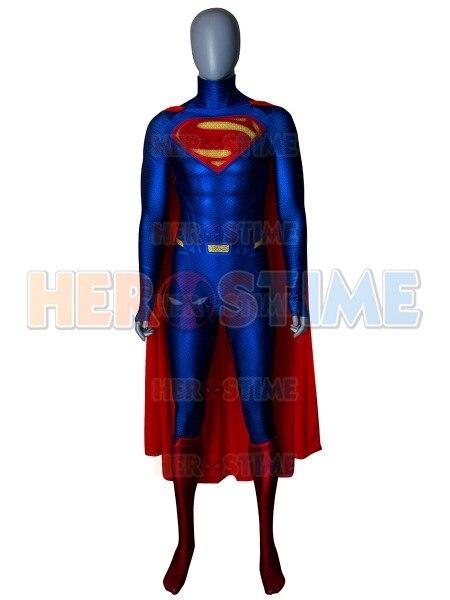 Man Of Steel Superman Costume 3D Print Superman Superhero cosplay halloween costume for Adult/Kids with Cape Hot Sale