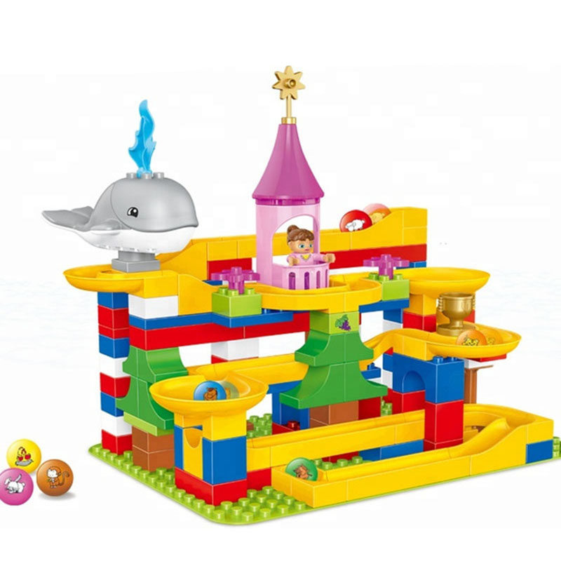 137 pièces marbre course labyrinthe balles roulement bricolage blocs Construction briques jouets pour enfants enfants