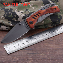 multi-functional Outdoor knife folding mahogany survival and rescue household fruit pocket karambit navajas Woodworking faca