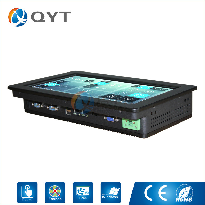 2LAN/2rs232/2usb 11.6 inch 1366x768 embedded Industrial PC with Intel N2807 1.6GHz Touch Screen Tablet PC dual RJ-45
