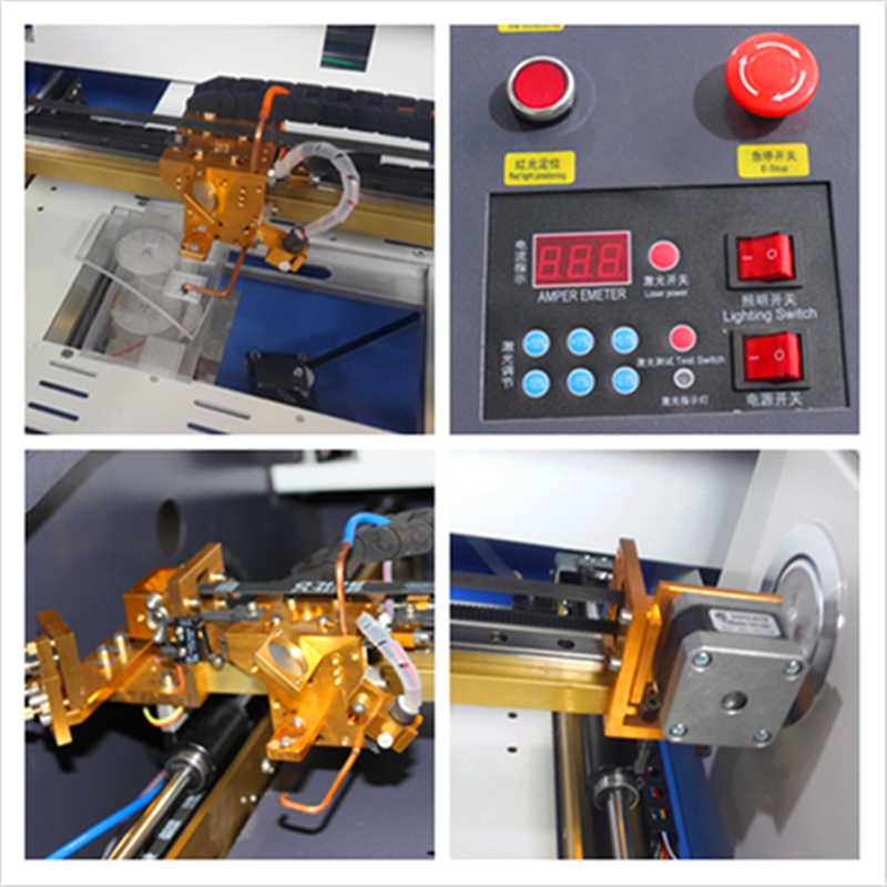 3040 40 W צבע לוח מגע מיני קרפט לייזר מכונת חיתוך HF-3020 3040 co2 40 w אוטומטי בד חיתוך מכונה