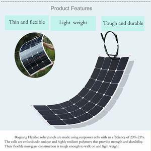 Image 3 - XINPUGUANG 100 واط 18 فولت أو 16 فولت مرنة خلية لوحية شمسية 100 واط وحدة أحادية البلورية sunpower الطلاء الشمسية 12 فولت شاحن بطارية