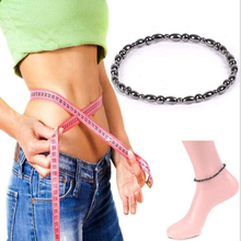 Fashion Healthy Care Weight Loss Anklet Magnet Bracelets for Foot Hematite Elast