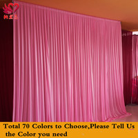 Express free shipping New Design Wedding Backdrop Curtain, wedding party stage plated silk taffta background decoration CR-876