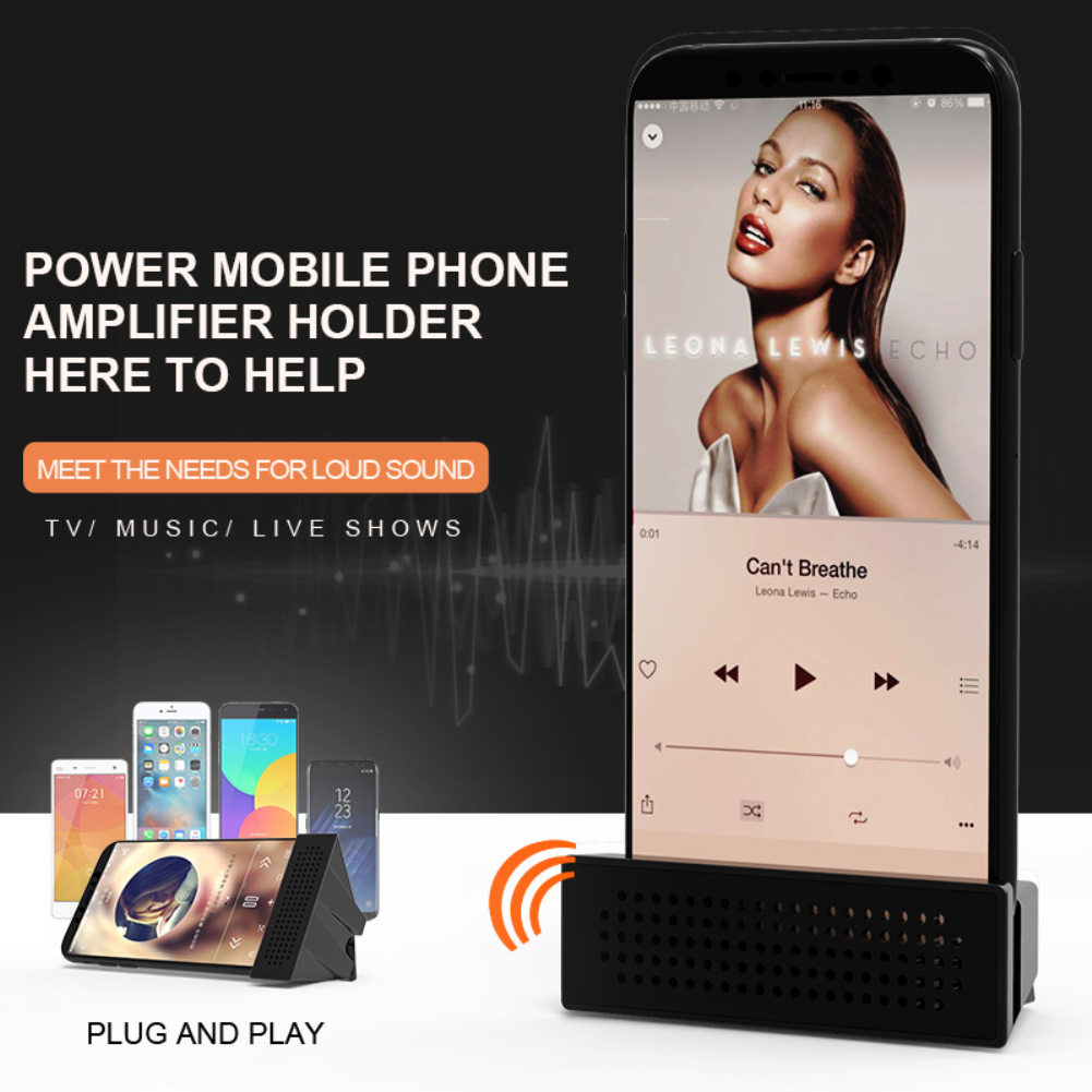 Tragbares Audio & Video Handy Verstärker Halterung Auto Handy Halter Kreative Multi-funktion Faul Telefon Verstärker Halterung Protable Smart Megaphon Kann Wiederholt Umgeformt Werden.