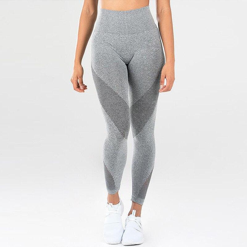 Hot Fashion Mesh Patchwork Leggings School Exercise Women Leggins Female Elastic Pant Capri Women Fitness Leggings Black Elastic