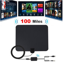 Indoor Digital TV Antenna with Signal Amplifier Booster TV Radius Antena TV Surf Antennas HDTV Freeview TDT Cable TV Fox Antenna(China)