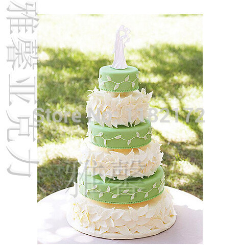 Hot Popular 6 Tier Round Acrylic Wedding Cake Stand Hanging Crystals