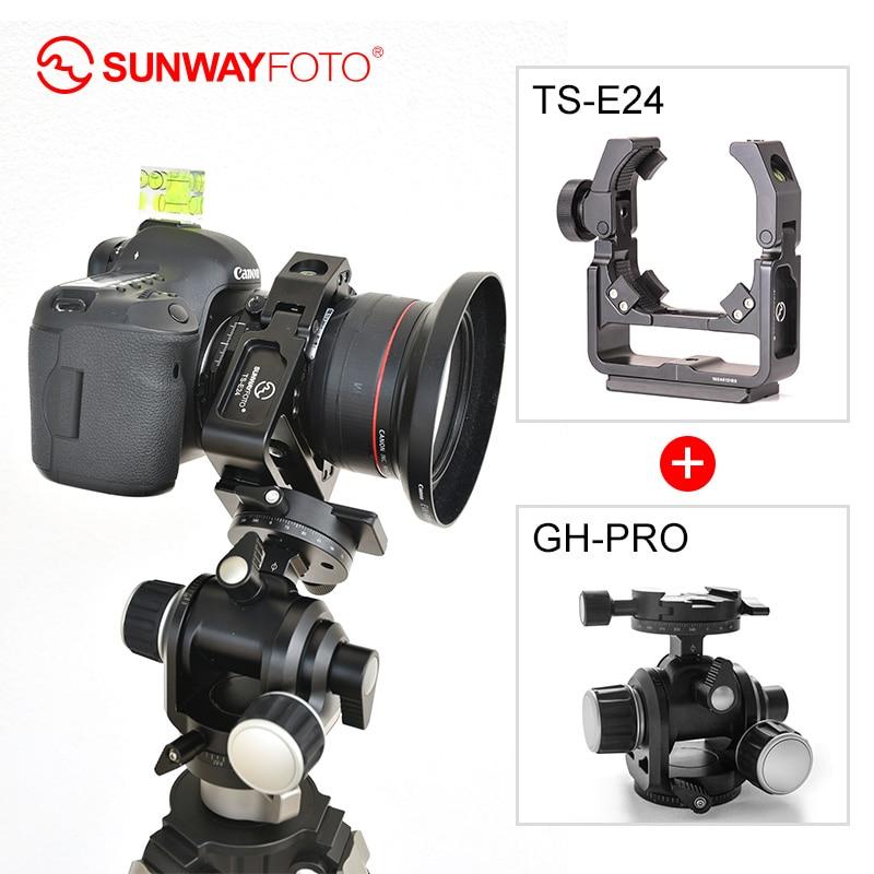 Sunwayfoto TS-E24 Наклонный кронштейн для объектива БЫСТРОРАЗЪЕМНАЯ пластина и GH-PRO Трипод с поворотной головкой
