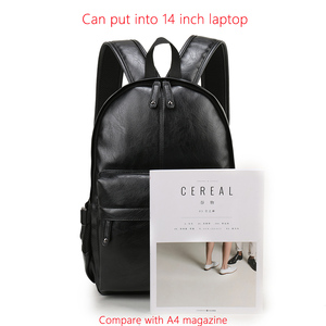 Image 5 - VORMOR mochila escolar de cuero impermeable para hombre, bolso de viaje, informal, de cuero