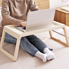 2019 gorąca sprzedaż proste moda stolik na laptopa kreatywny składane biurko komputerowe laptopa przenośne łóżko nauki stół Notebook biurko na sofę tanie tanio Bahmetev home Laptop biurko none ELH001 Meble szkolne Meble sklepowe china like Drewniane Sosna