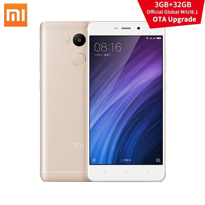 "Цена за Оригинал Xiaomi Redmi 4 Pro 3 ГБ RAM 32 ГБ ROM MIUI8.1 ОТА Snapdragon 625 5.0 ""4100 мАч 13.0MP xiomi mi Redmi4 Мобильных Телефонов xaomi"