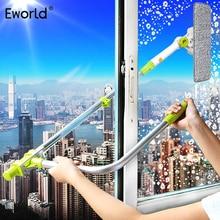 Eworld limpador de janela telescópico, atualizado, alta, limpador de vidro, escova para janelas, limpeza de poeira, para janelas