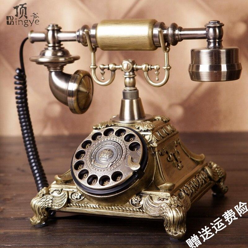 Ye are the top rotary telephone antique European Garden retro telephone home phone office phone