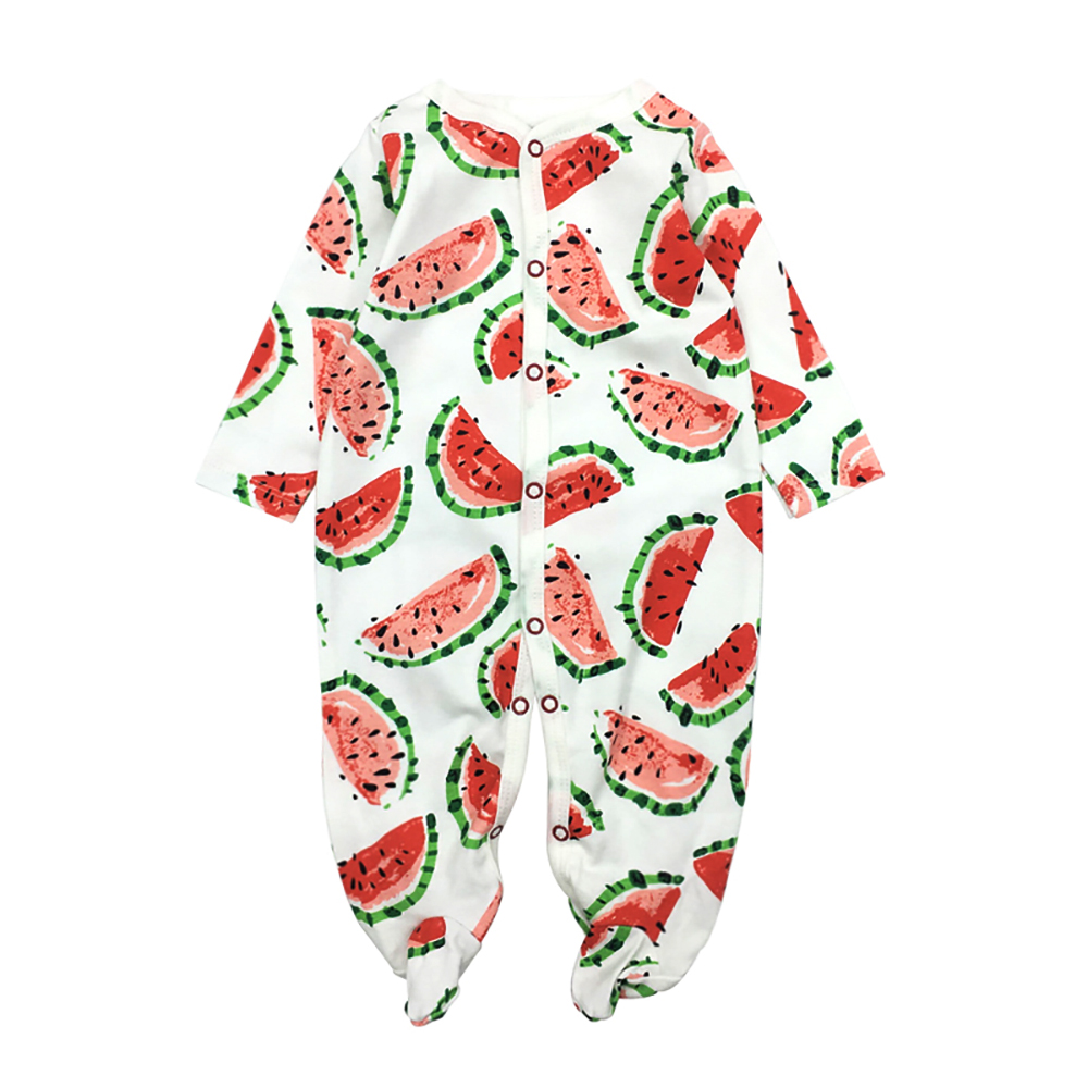 2018 Winter Soft and Comfortable Baby Clothes 100% cotton Black Stripped Baby Sleepwear Climb Clothing Baby Footies