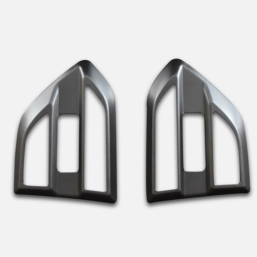Gauche et droit ABS mat noir côté couvercle de la lampe garniture accessoires pour ford everest amblente trebd 2015 présent dans Emblèmes de Automobiles et Motos