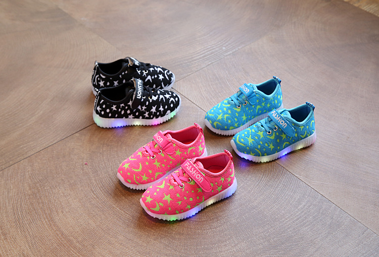 17 New Kids LED Sneakers Breathable Children Sports shoes Baby boys Luminous shoes for girls shoe with light Size 21-30 4