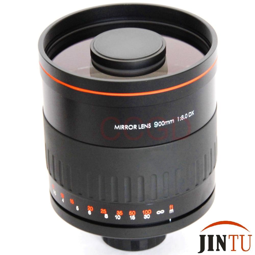 JINTU 900mm f/8 miroir Super Tele lentille de mise au point manuelle pour Sony Alpha A900 A700 A300 A200 A100 appareil photo reflex numérique