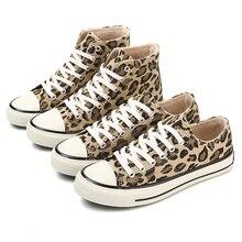 Зимние леопардовые ботильоны, Женская парусиновая обувь на шнуровке с плюшевой подкладкой, женская повседневная обувь с высоким берцем, 2018 модные кроссовки, женские ботинки