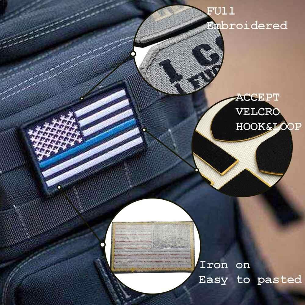 Tùy chỉnh Thêu Patch sắt cá nhân của riêng bạn trên miếng vá biker quân sự cho quần áo đính DIY huy hiệu PVC dán thư