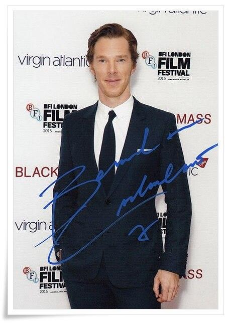 Benedict Cumberbatch autographed signed photo 4*6 inches freeshipping  01.2017 03 blathwayt benedict dinosaur chase