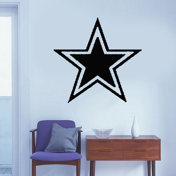 Dallas Cowboys Star Wall Stickers Kids Rooms Murals Quotes Living Room Decorative Vinyl Wallpaper Home Decor Family Art Decal In From