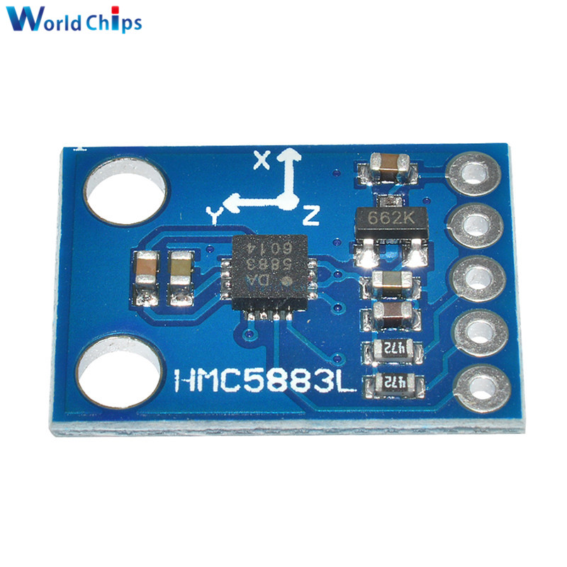 Image 3 - GY 273 3V 5V HMC5883L Triple Axis Compass Magnetometer Sensor Module Three Axis Magnetic Field Module For Arduino-in Integrated Circuits from Electronic Components & Supplies