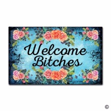 Door Mat Entrance Mat Welcome Funny Entrance Floor Mat Non-slip Doormat 23.6 by 15.7 Inch Machine Washable Non-woven Fab