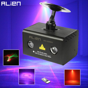 ALIEN Remote RG Aurora Laser Light Projector Stage Lighting Effect RGB LED Water Wave Party Dance Disco DJ Holiday Xmas Lights alien remote dmx512 200mw rgy laser stage lighting scanner effect dance dj disco party show light xmas projector lights